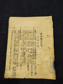 50年代蓝墨油印本--语法补充教材,词的分类--温州师范学校函授部编印--温州乡土教育文献.