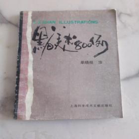《黑白美术800例》24开画册