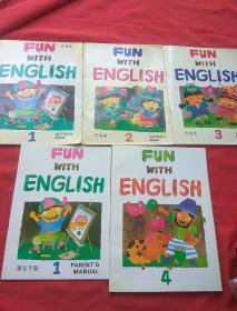 Fun with English (佳音英语4+作业本1,2,3+家长手册1)5本合售