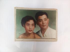 50年代彩色结婚照一张