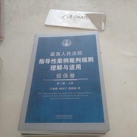 最高人民法院指导性案例裁判规则理解与适用担保卷第二册上下册