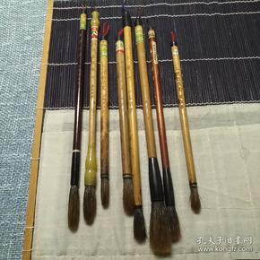 8枝旧毛笔合售