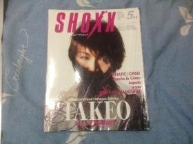 日本视觉系明星杂志SHOXX 2003.5 封面 TAKEO,内有海报一张