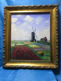 油画 荷兰风车