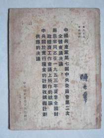 中囯共产党第七届中央委员会第二次全体会议决议