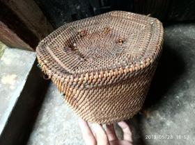 潮汕六角藤具,装茶器,有损伤