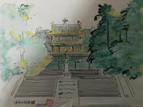 中山陵的景点,孙中山纪念馆.