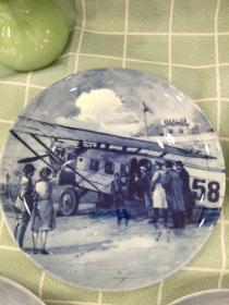 西洋 欧洲 德国 装饰盘 挂盘 限量版 19cm Berlin Design 1984汉莎航空 Dornier Komet 3型 1926年