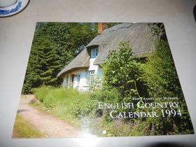 the thames and hudson english country calendar 1994 泰晤士河和哈德逊英国乡村风景摄影挂历 英文原版