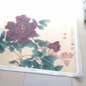 珂罗版李晓明牡丹与蜜蜂(大)