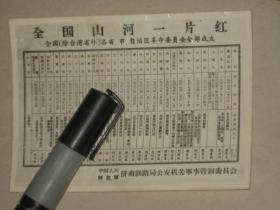全国山河一片红---全国(除台湾省外)各省市自治区革命委员会全部成立