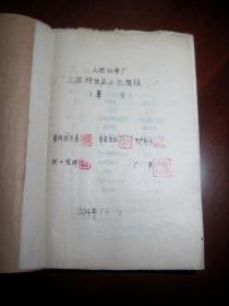 1964年《山西化学厂立德粉生产工艺规程(草案)》