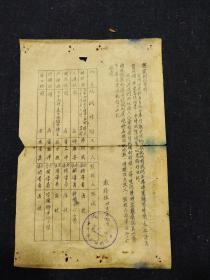 50年代蓝墨油印本--温州师范学校通知---温州师范学校函授部编印--温州乡土教育文献.