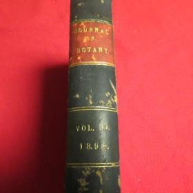 清代    JOURNAL  OF  BOTANA  1896年   外文原版  精装