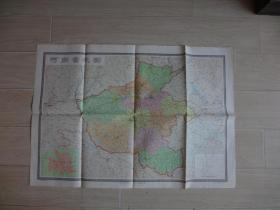 河南省地图(地图后边有字迹)