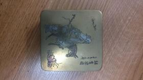 铜墨盒 驴背思诗