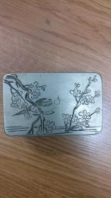 铜墨盒  喜鹊登梅