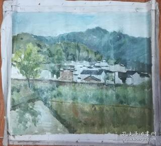 手绘布面油画:肖启舟(风景 60x50 )