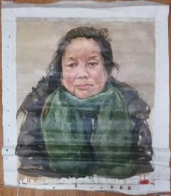 手绘布面油画:无款20190607-02(人物 60x50 )