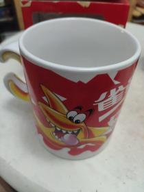 2002年雀巢鲨鱼卡通马克杯 限量珍藏版