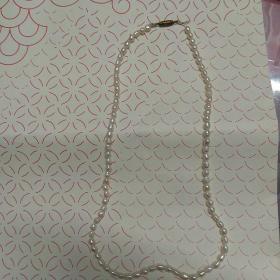 天然珍珠項鏈(86粒串成,包真)