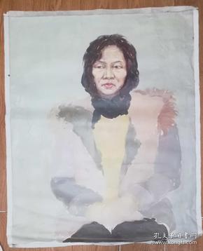 手绘布面油画:无款20190607-04(人物 80x65 )