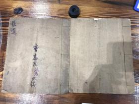 民国28年手抄本:道教资料:一线穿珠 两册合售 复印件 M2