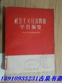 社会主义经济问题学习纲要