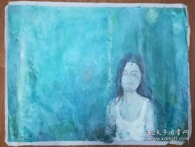 手绘布面油画:无款20190607-05(人物 80x60 )