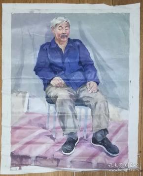 手绘布面油画:无款20190607-06(人物 80x60 )