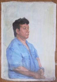 手绘布面油画:无款20190607-08(人物 60x40 )
