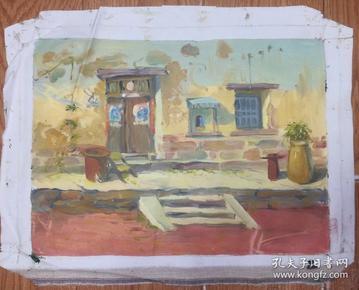 手绘布面油画:无款20190607-09(风景 40x30 )
