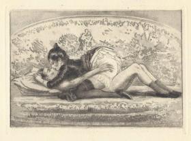 近代西洋情色蚀刻版画 约翰内斯格罗斯 1930年限量版画 法国巴黎