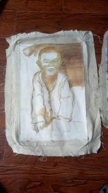 老油画:人物 长75厘米*55厘米,年代不详【 油画18】