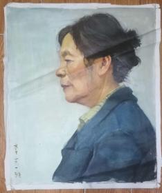 手绘布面油画:李玄(人物 60x50 )