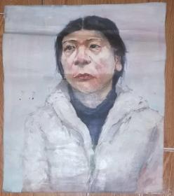 手绘布面油画:无款20190607-12(人物 60x50 )