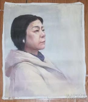 手绘布面油画:无款20190607-13(人物 60x50 )