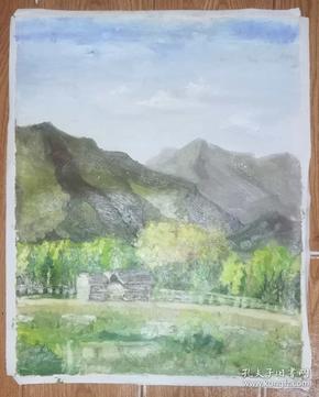 手绘布面油画:无款20190607-14(风景 50x40 )