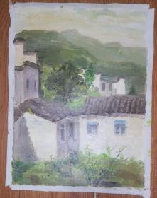 手绘布面油画:无款20190607-15(风景 40x30 )