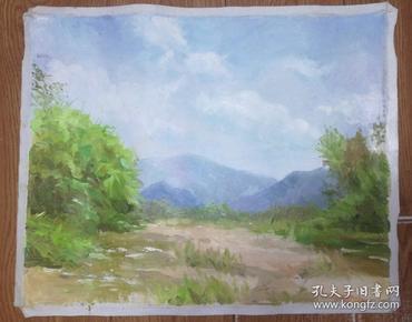 手绘布面油画:无款20190607-16(风景 50x40 )