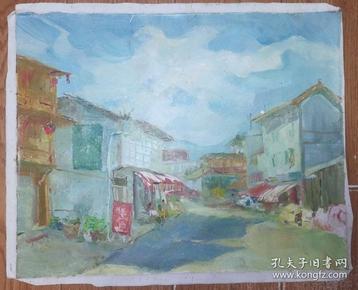 手绘布面油画:无款20190607-17(风景 50x40 )