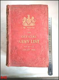 The OFFICIAL ARMY LIST WAR OFFICE (正式军队列表)英文版  A45