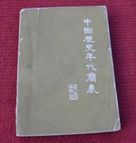 中国历史年代简表--正版书--35