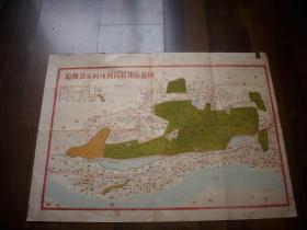 五十年代【原阳县水利河网园林化示意图】!62/45厘米