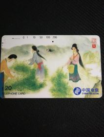 中国电信   ¥20    茶文化   采茶  浙江邮电管理局供稿