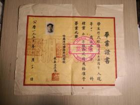 1953年哈尔滨外国语专门学校本科毕业证,校长王季恩  品如图,品差