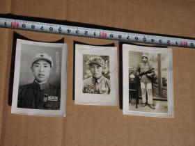 红色收藏 抗美援朝照片 抗美援朝老照片 志愿军军人照片 抗美援朝胜利归国纪念 东北留念 持枪照片