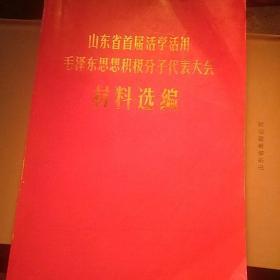 山东省活学活用毛泽东思想积极分子代表大会材料选编