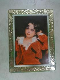 年历片《1980年红衣孩子》