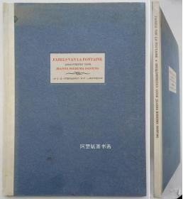 《拉封丹寓言诗选集》1945年限量编号版原版铜版画插图本并带铜版藏书票